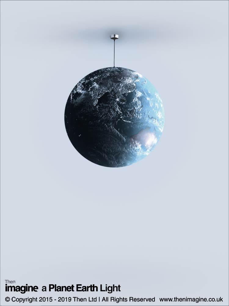 A Planet Earth Pendant Light Shade Then Imagine